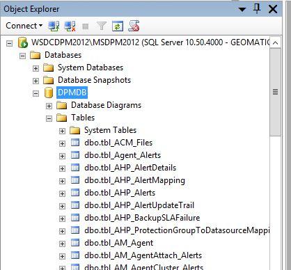 SQL DPM Tables