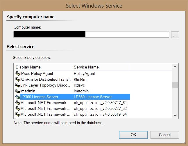 SCOM - Create Unit Monitor - Select Windows Service